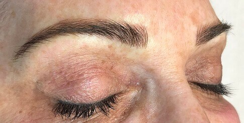 Microblading Before and After After Microblading