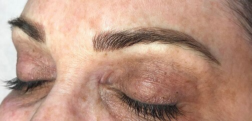 Before & After Microblading After Microblading